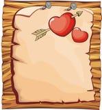 Tarjeta del día de San Valentín del tablero para la tarjeta de felicitación del amor fotos de archivo