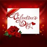 Tarjeta del día de San Valentín \ \ \ \ \ \ \ \ \ \ \ 'tarjeta del día de s Imagen de archivo