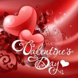 Tarjeta del día de San Valentín \ \ \ \ \ \ \ \ \ \ \ 'tarjeta del día de s Fotografía de archivo libre de regalías