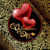 Tarjeta del día de San Valentín \ \ \ 'tarjeta del día de s Fotografía de archivo