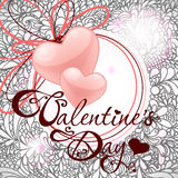 Tarjeta del día de San Valentín \ \ \ \ \ \ \ 'tarjeta del día de s Imagenes de archivo