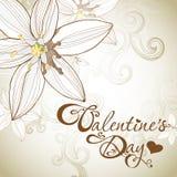 Tarjeta del día de San Valentín \ \ \ 'tarjeta del día de s Foto de archivo libre de regalías