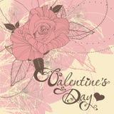 Tarjeta del día de San Valentín \ \ \ 'tarjeta del día de s Fotografía de archivo libre de regalías