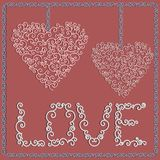 Tarjeta del día de San Valentín \ 'tarjeta del día de s Fotografía de archivo libre de regalías