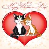 Tarjeta del día de San Valentín \ 'tarjeta del día de s Imágenes de archivo libres de regalías