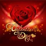 Tarjeta del día de San Valentín \ \ \ 'tarjeta del día de s con las rosas Fotos de archivo
