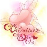 Tarjeta del día de San Valentín \ \ \ 'tarjeta del día de s con los corazones Foto de archivo libre de regalías