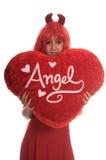 Tarjeta del día de San Valentín torcida fotografía de archivo libre de regalías