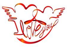 Tarjeta del día de San Valentín \ 'venda del día de s - te amo Imágenes de archivo libres de regalías