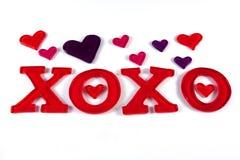 Tarjeta del día de San Valentín XOXO Foto de archivo libre de regalías
