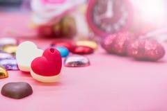 Tarjeta del día de San Valentín y el día más dulce Imagen de archivo libre de regalías