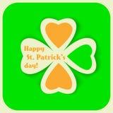 Tarjeta del día de St Patrick Fotos de archivo libres de regalías