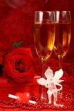 Tarjeta del día de tarjeta del día de San Valentín. Fotografía de archivo