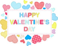 Tarjeta del día de tarjeta del día de San Valentín Fotos de archivo