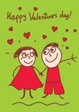 Tarjeta del día de tarjeta del día de San Valentín Imágenes de archivo libres de regalías