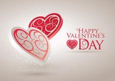 Tarjeta del día de tarjeta del día de San Valentín Imagen de archivo libre de regalías