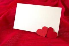 Tarjeta del día de tarjeta del día de San Valentín Fotos de archivo libres de regalías