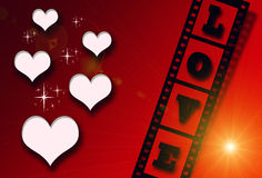 Tarjeta del día de tarjeta del día de San Valentín Imagen de archivo