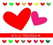 Tarjeta del día de tarjeta del día de San Valentín Fotografía de archivo