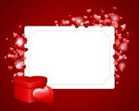 Tarjeta del día de tarjeta del día de San Valentín con el corazón y el GIF Imagenes de archivo