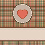 Tarjeta del día de tarjeta del día de San Valentín de la vendimia. EPS 8 Foto de archivo