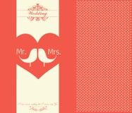 Tarjeta del día de tarjeta del día de San Valentín - ejemplo Fotos de archivo libres de regalías
