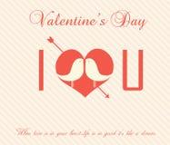Tarjeta del día de tarjeta del día de San Valentín - ejemplo Foto de archivo libre de regalías