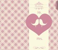 Tarjeta del día de tarjeta del día de San Valentín - ejemplo Imágenes de archivo libres de regalías
