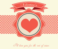 Tarjeta del día de tarjeta del día de San Valentín - ejemplo Imagen de archivo libre de regalías