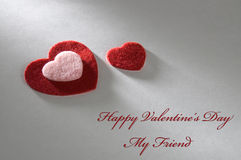 Tarjeta del día de tarjeta del día de San Valentín para un amigo Imagen de archivo libre de regalías