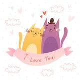 Tarjeta del día de tarjeta del día de San Valentín ¡Te amo! Imágenes de archivo libres de regalías
