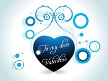tarjeta del día de tarjetas del día de San Valentín Foto de archivo libre de regalías
