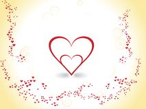 tarjeta del día de tarjetas del día de San Valentín Fotos de archivo