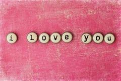Tarjeta del día de tarjetas del día de San Valentín Foto de archivo