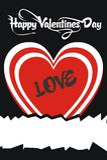 Tarjeta del día de tarjetas del día de San Valentín Fotos de archivo libres de regalías