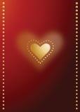 Tarjeta del día de tarjetas del día de San Valentín Imagen de archivo libre de regalías