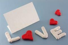 Tarjeta del día de tarjetas del día de San Valentín Fotografía de archivo
