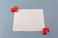Tarjeta del día de tarjetas del día de San Valentín Imagenes de archivo