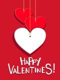 Tarjeta del día de tarjetas del día de San Valentín Imagen de archivo
