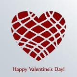 Tarjeta del día de tarjetas del día de San Valentín con el corazón. Imagen de archivo libre de regalías
