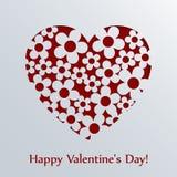 Tarjeta del día de tarjetas del día de San Valentín con el corazón. Foto de archivo