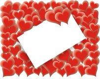 Tarjeta del día de tarjetas del día de San Valentín - corazones cariñosos - vector Fotos de archivo libres de regalías