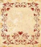 Tarjeta del día de tarjetas del día de San Valentín de Vinage Imagen de archivo libre de regalías