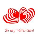 Tarjeta del día de tarjetas del día de San Valentín del diseño Fotos de archivo libres de regalías