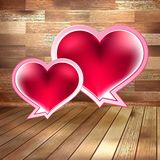 Tarjeta del día de tarjetas del día de San Valentín en la madera. EPS 10 Fotografía de archivo