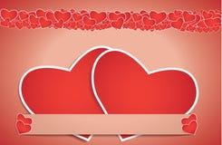 Tarjeta del día de tarjetas del día de San Valentín - EPS10 imagenes de archivo