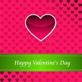 Tarjeta del día de tarjetas del día de San Valentín feliz Imagen de archivo