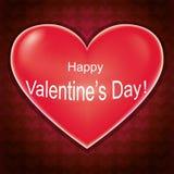 Tarjeta del día de tarjetas del día de San Valentín, fondo del amor con el corazón stock de ilustración
