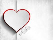 Tarjeta del día de tarjetas del día de San Valentín - plantilla del fondo ilustración del vector