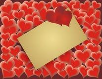 Tarjeta del día de tarjetas del día de San Valentín - vector Fotos de archivo